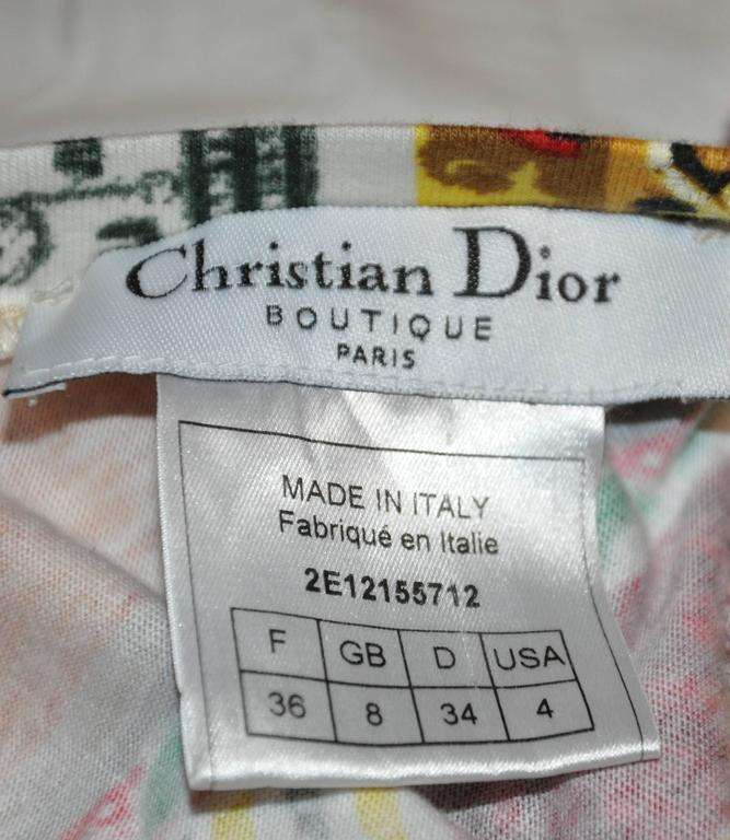 "Christian Dior ""Boutique"" Bold Multi-Print Pullover In Good Condition For Sale In New York, NY"