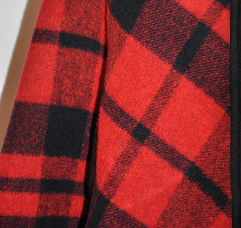 Pendleton Reversible Double-Faced Wool Plaid Poncho 5