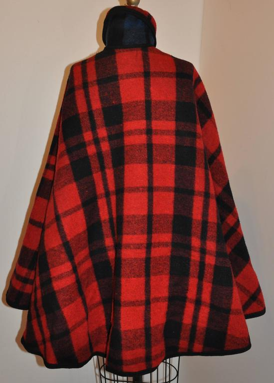 Pendleton Reversible Double-Faced Wool Plaid Poncho 2