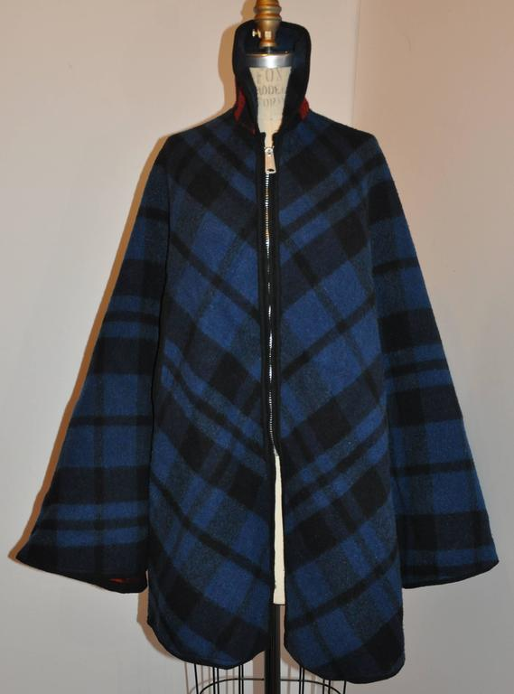 Pendleton Reversible Double-Faced Wool Plaid Poncho 3
