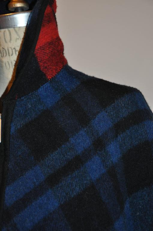 Pendleton Reversible Double-Faced Wool Plaid Poncho 7