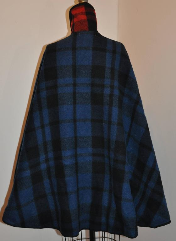 Pendleton Reversible Double-Faced Wool Plaid Poncho 4
