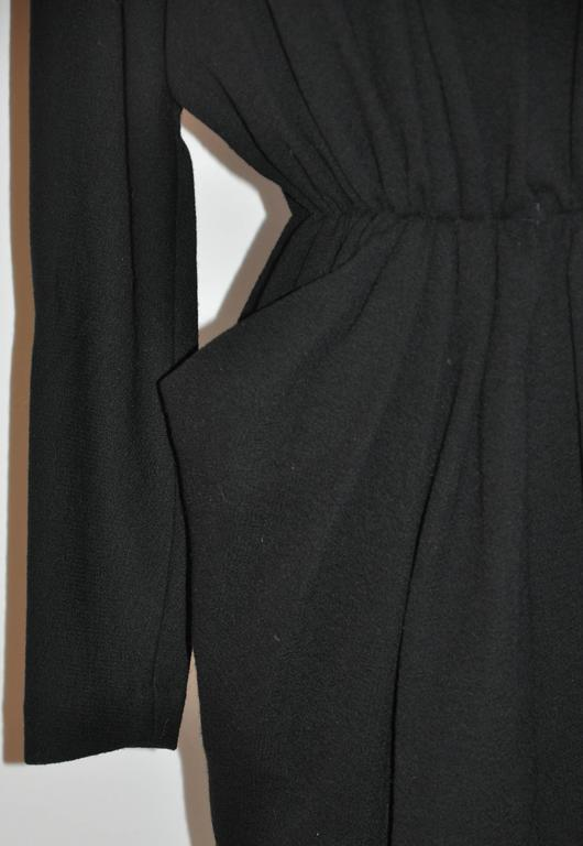 "Women's or Men's Donna Karan Iconic Signature ""Sold Out"" Black Wool Crepe Jersey Dress For Sale"
