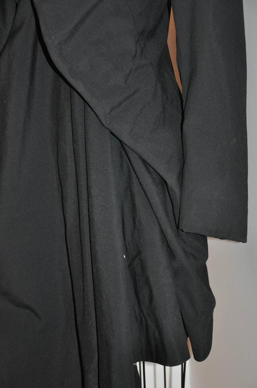 Rare Comme des Garcon Black Deconstructed Draped Jacket For Sale 1