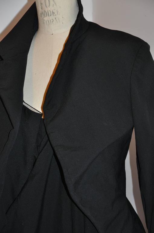 Rare Comme des Garcon Black Deconstructed Draped Jacket For Sale 2