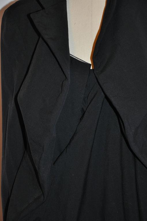 Rare Comme des Garcon Black Deconstructed Draped Jacket For Sale 3