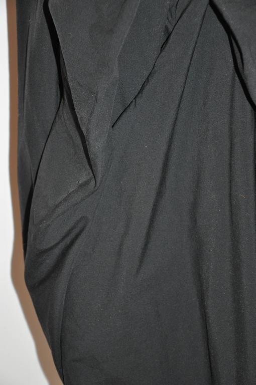 Rare Comme des Garcon Black Deconstructed Draped Jacket For Sale 4
