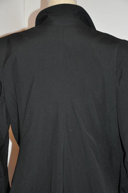 Rare Comme des Garcon Black Deconstructed Draped Jacket For Sale 5
