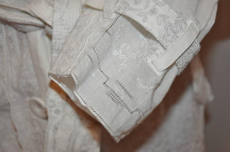 Comme des Garcons Detailed Hand-Embroidered Linen Blend Trench  5