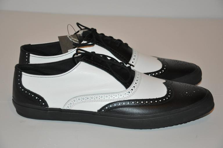 "Comme des Garcons Men's Black & White ""Specs"" Rubber-Sole Shoes 2"