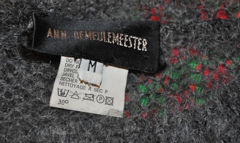 Ann Demeulemeester Charcoal Gray Loose-Knit Pullover 3