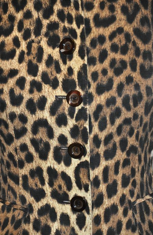 Moschino Leopard Print Fully Lined Jacket In Good Condition For Sale In New York, NY