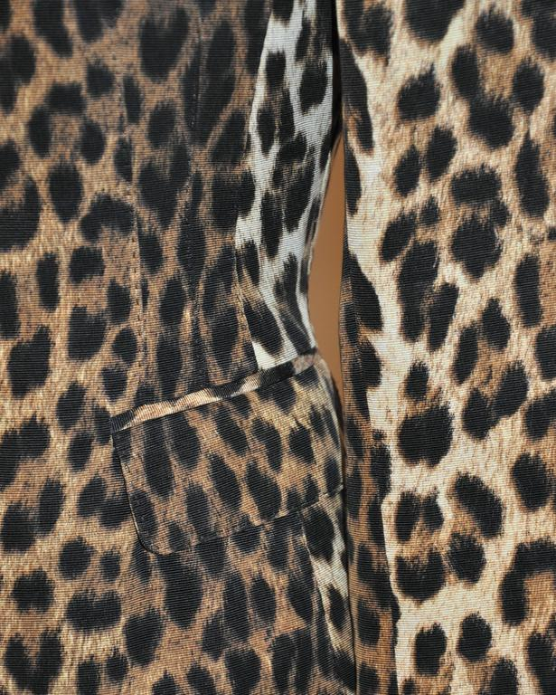 Moschino Leopard Print Fully Lined Jacket For Sale 1