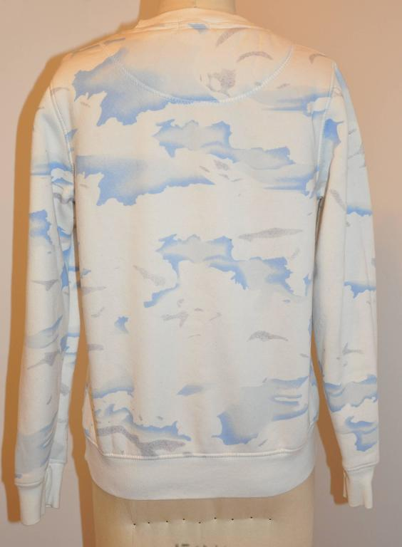"Kenzo Crew-Neck Cotton-Blend ""Clouds"" Sweat Pullover 2"