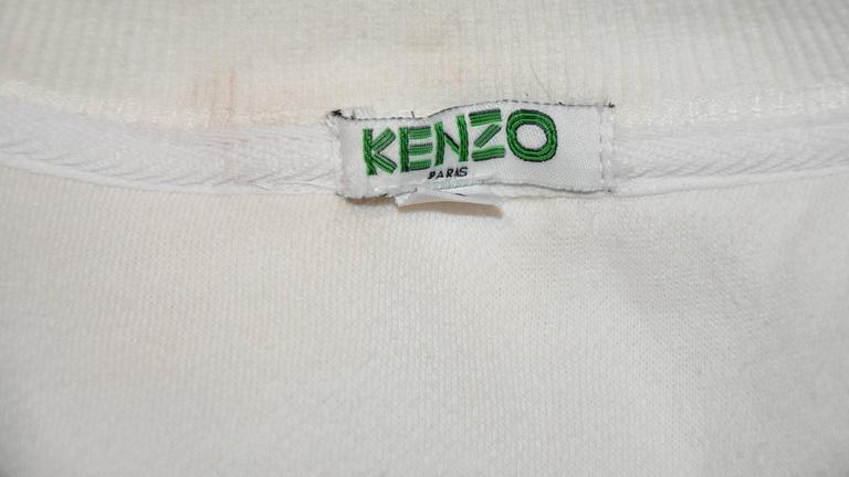 "Kenzo Crew-Neck Cotton-Blend ""Clouds"" Sweat Pullover 3"