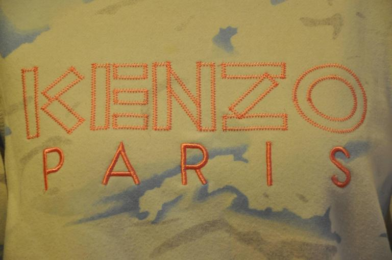 "Kenzo Crew-Neck Cotton-Blend ""Clouds"" Sweat Pullover 4"