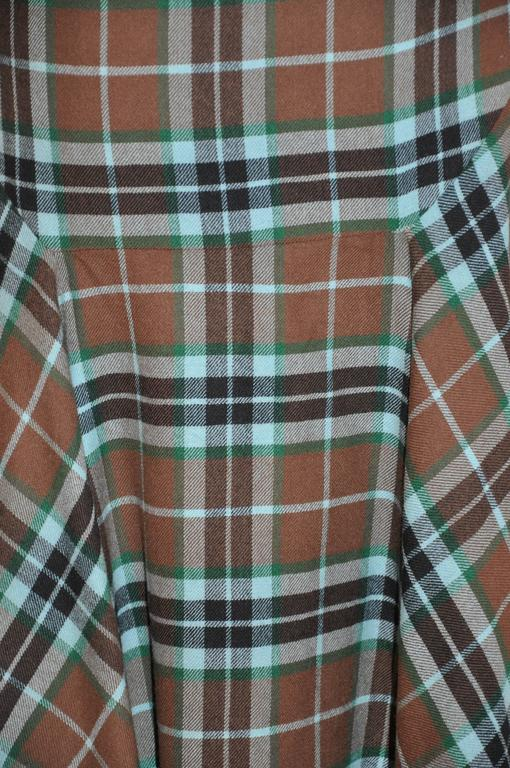 Givenchy Multi-Color Plaid Deconstructed Skirt In Good Condition For Sale In New York, NY