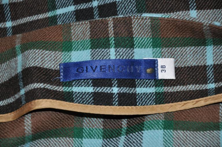 Women's Givenchy Multi-Color Plaid Deconstructed Skirt For Sale