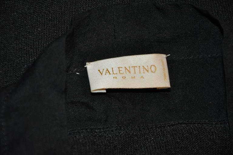 Black Valentino Crew Neck with Chiffon Open High-Neck Tie Collar Pullover For Sale