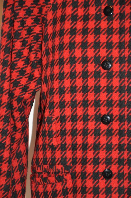 Women's Yves Saint Laurent Black & Red Checkered Jacket For Sale