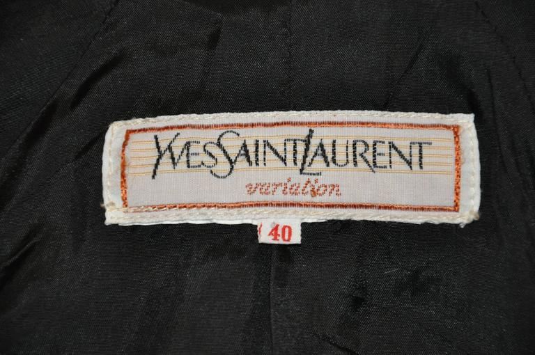 Yves Saint Laurent Black & Red Checkered Jacket For Sale 1