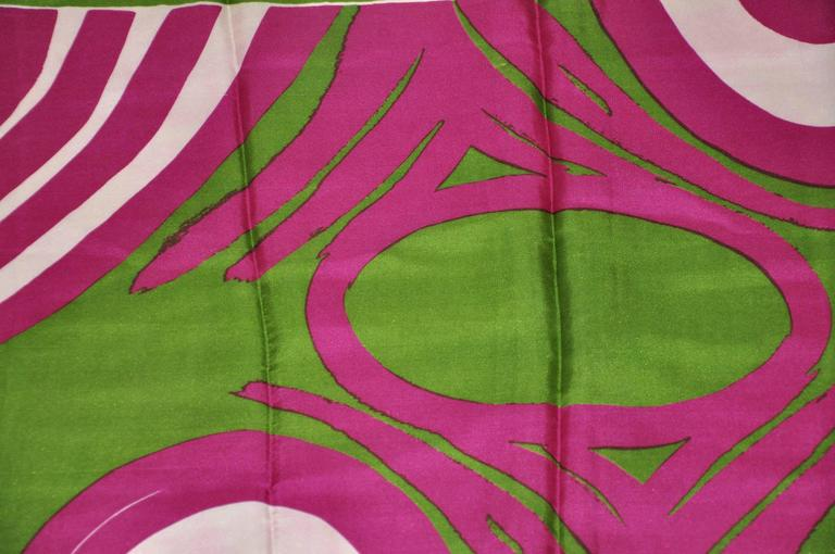 "Vera  ""Olive with Plum Circles"" Scarf 4"