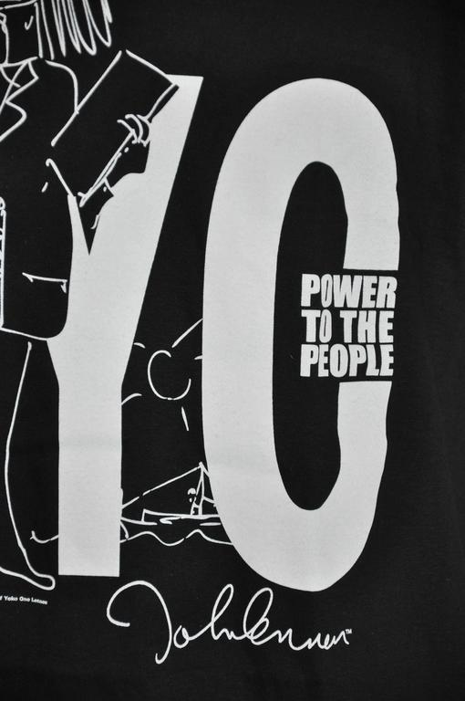 "John Lennon ""Limited Edition"" ""Power To The People"" Black Cotton Tee 3"