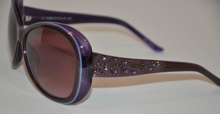 Judith Leiber wonderfully detailed huge sunglasses with