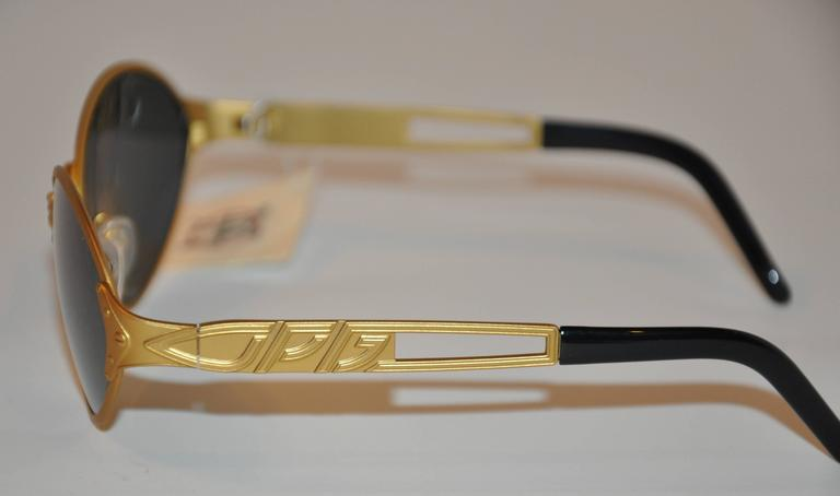 Black Jean Paul Gaultier Gold Tone Accented with Stud Sunglasses For Sale