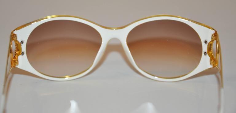"""Christian Dior """"Burst of Yellow"""" Lucite with Gilded Gold Hardware Sunglasses 6"""