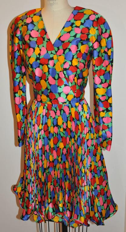 Scaasi wonderful multi-color whimsical floral