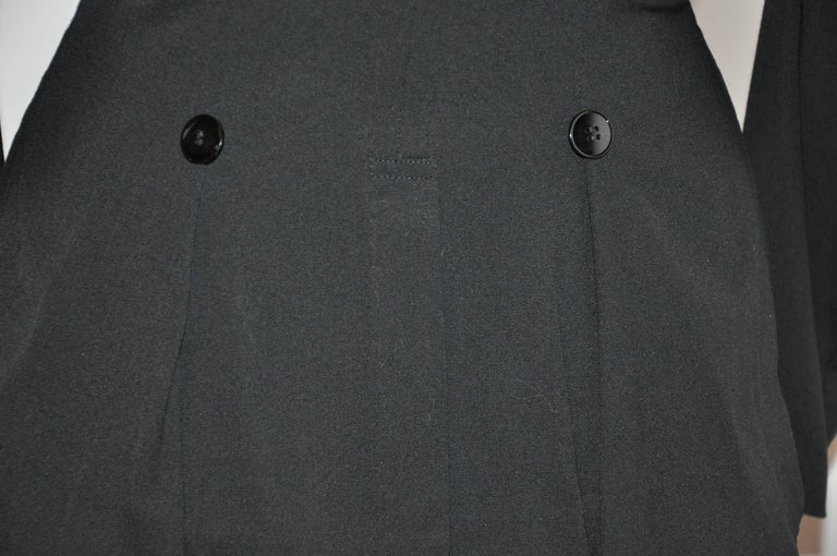 Women's or Men's Yohji Yamamoto Black Deconstructed with Boning Bodice Button Jacket For Sale