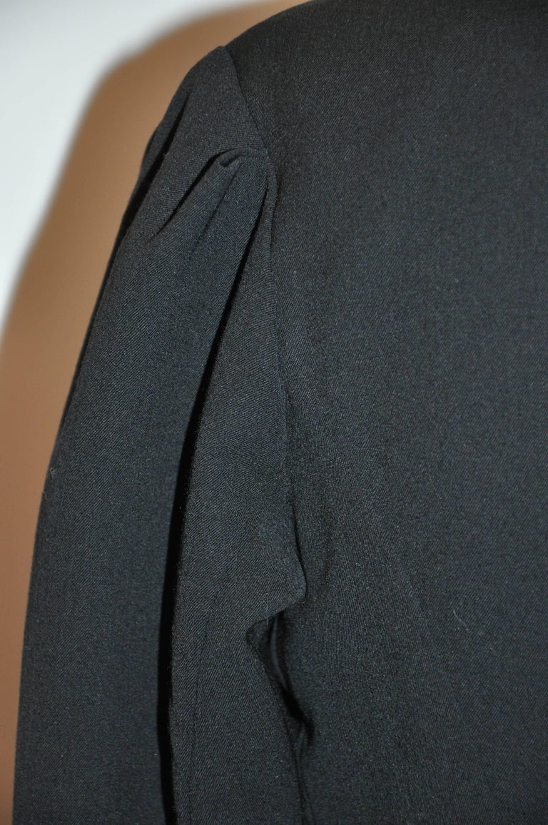 Yohji Yamamoto Black Deconstructed with Boning Bodice Button Jacket For Sale 1