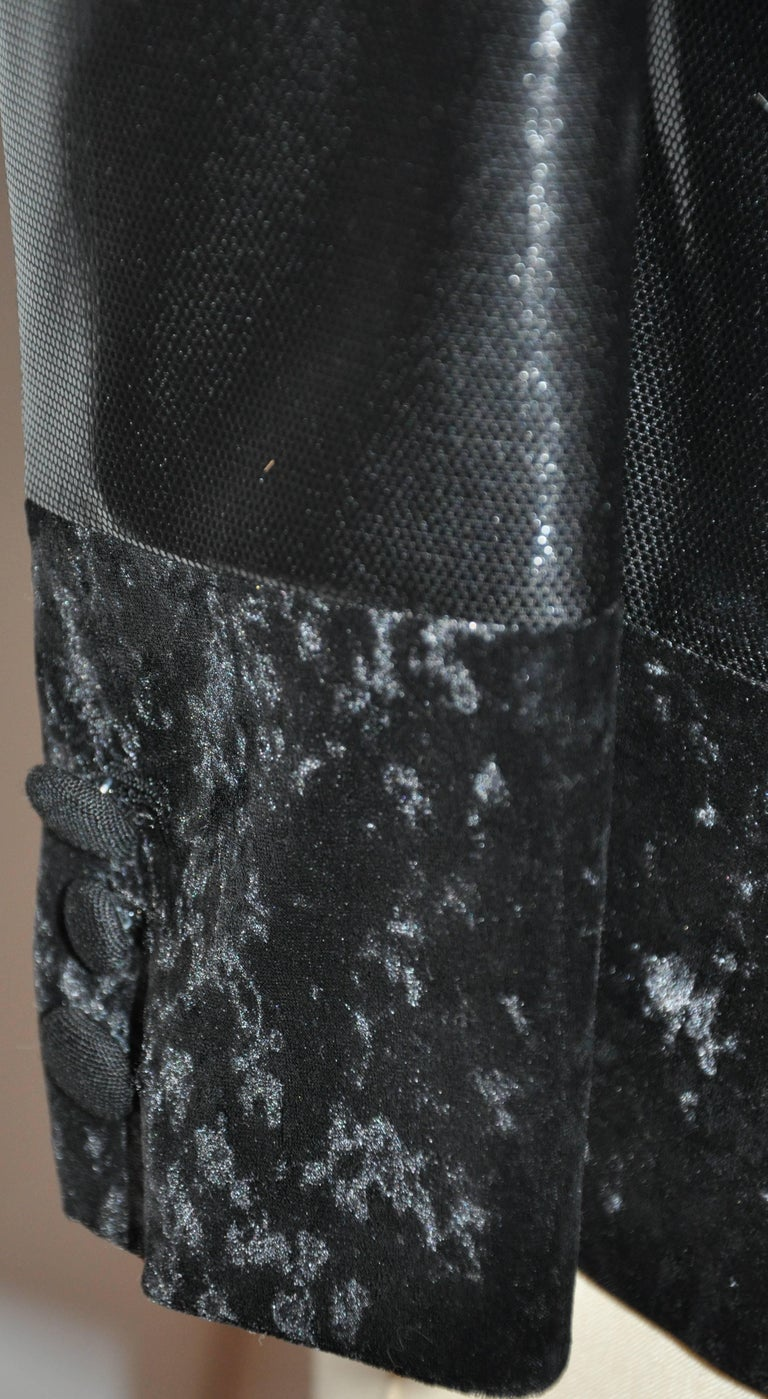 Junya Watanabe 'Comme des Garcons' Black Multi-Textured Evening Jacket For Sale 1