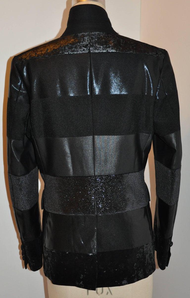 Junya Watanabe 'Comme des Garcons' Black Multi-Textured Evening Jacket For Sale 3