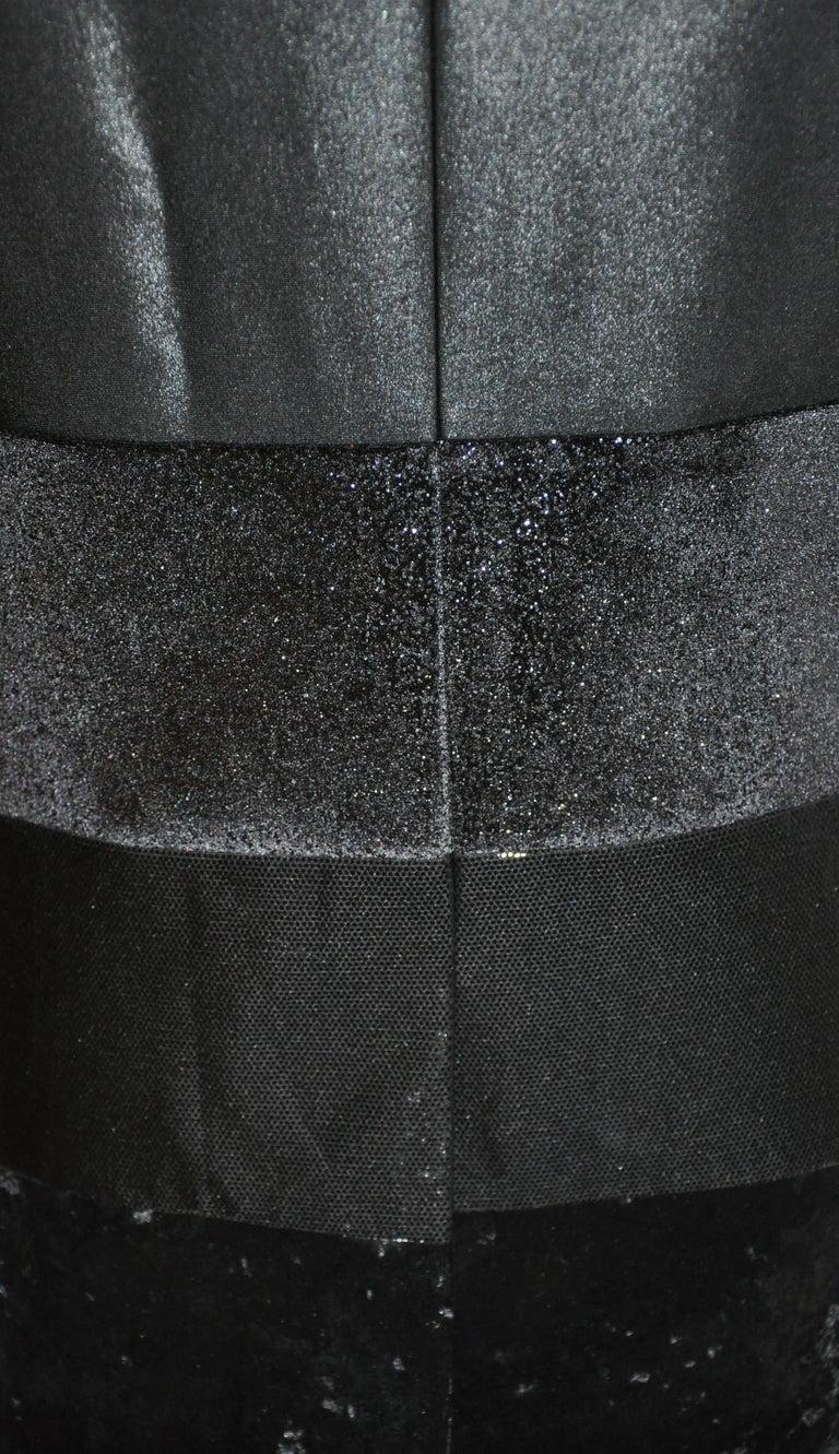 Junya Watanabe 'Comme des Garcons' Black Multi-Textured Evening Jacket For Sale 5