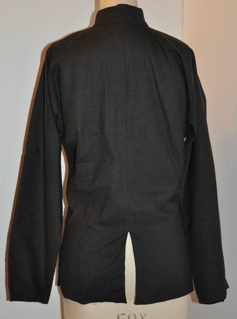 Comme des Garcons 'Comme des Garcons' Charcoal Spring-Wool Jacket In Fair Condition For Sale In New York, NY