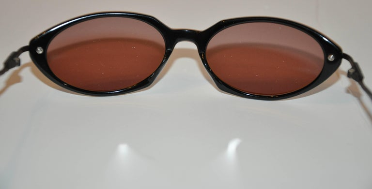 Jean Paul Gaultier Golden Lucite with Black Lucite Interior Sunglasses For Sale 1