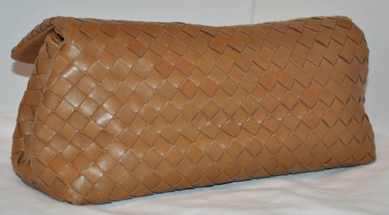 Women's or Men's Bottega Veneta Beige Lambskin Sectional Woven Clutch For Sale