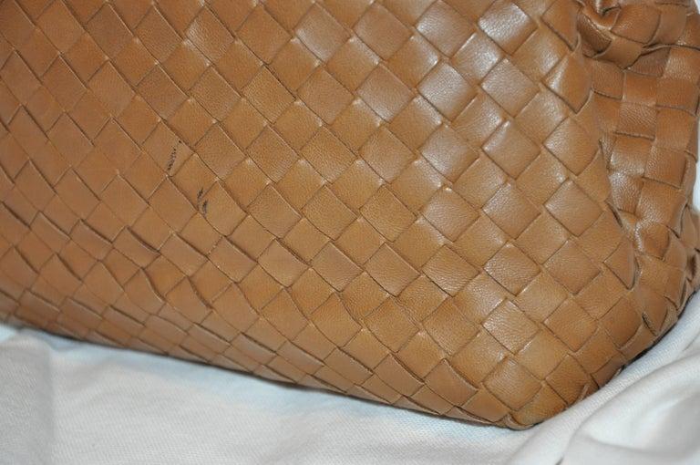 Bottega Veneta Beige Lambskin Sectional Woven Clutch For Sale 2