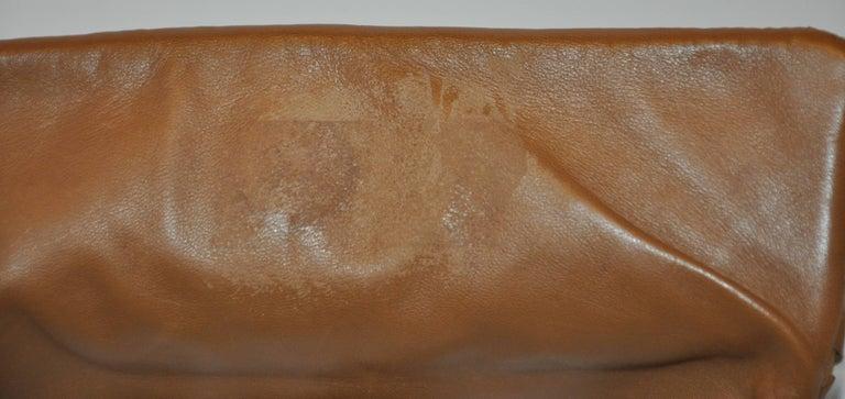 Bottega Veneta Beige Lambskin Sectional Woven Clutch For Sale 3