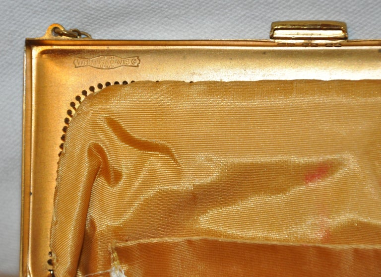 Whiting & Davis Gilded Gold Hardware Mesh Evening Bag In Good Condition For Sale In New York, NY