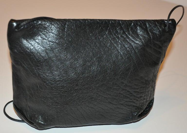 Carlos Falchi Textured Calfskin Zippered Patchwork