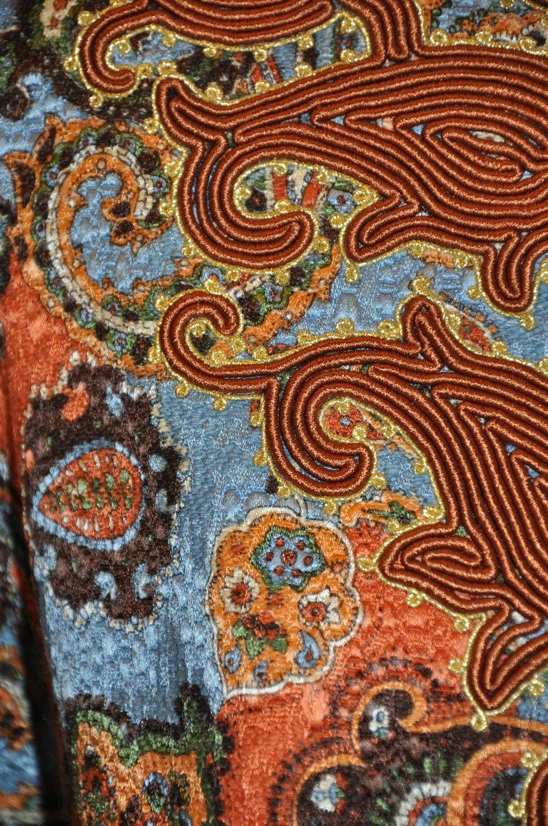 Oscar de la Renta 'Couture' Metallic Multi-Palsey Brocade with Silk Cord Jacket For Sale 1