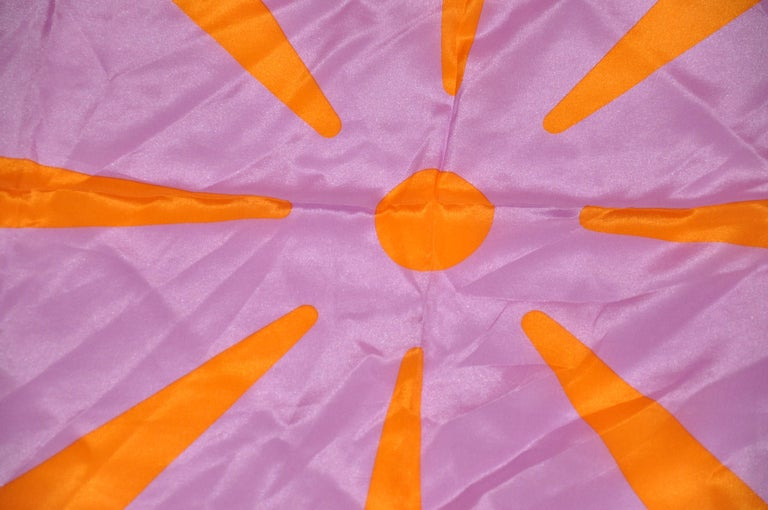 Purple Isaac Mizrahi Whimsically Bold Lavender & Tangerine