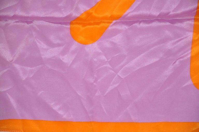 Women's or Men's Isaac Mizrahi Whimsically Bold Lavender & Tangerine