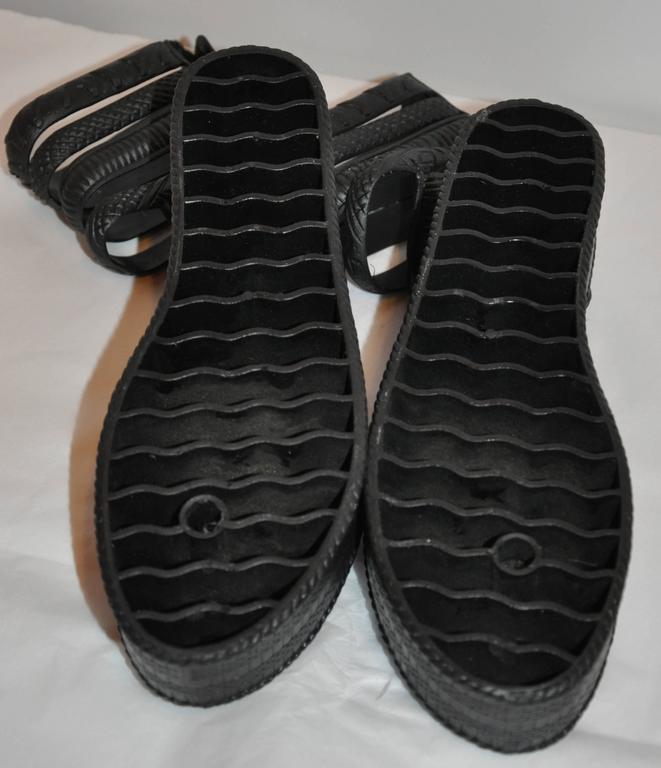 Jean Paul Gaultier Black Gladiator Sandals 4