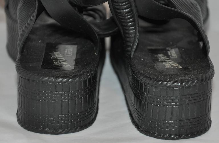 Jean Paul Gaultier Black Gladiator Sandals 5