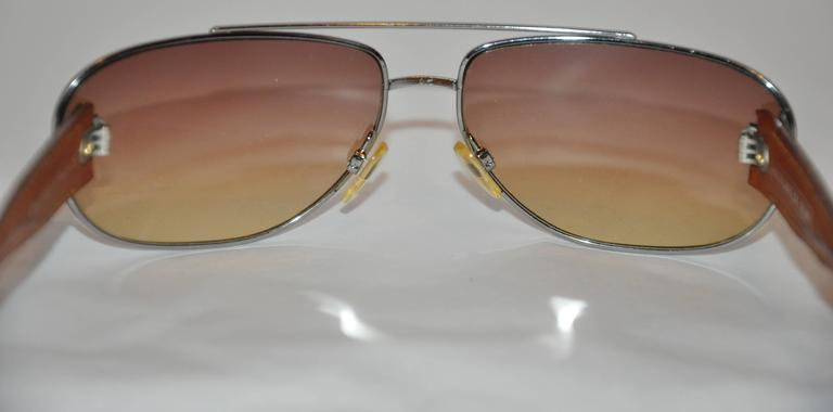 c166ac3739f Louis Vuitton Detailed Monogram Hand-stitched Arms Sunglasses In Good  Condition For Sale In New