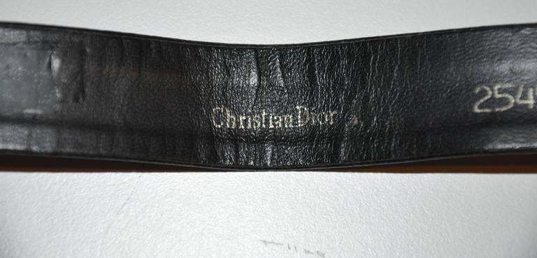 Christian Dior Large Gilded Gold Hardware Buckle and Belt 3